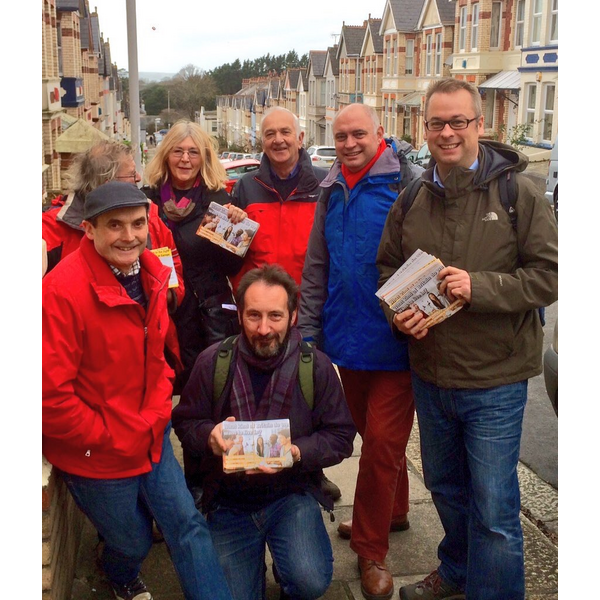 Plymouth Liberal Democrats delivering pro-European leaflets, December 2015