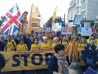 Lib Dems at the start 19th March 2019 (Photo by Stuart Spicer)